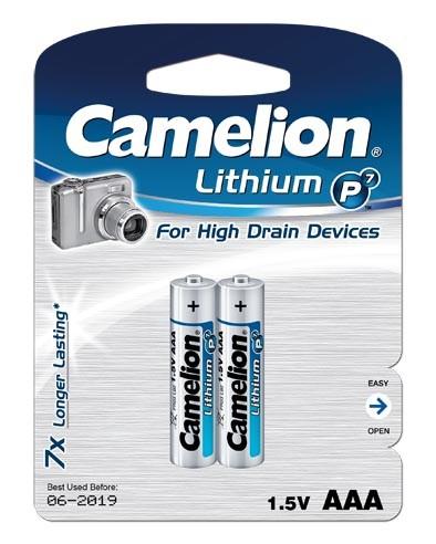 Blister de 2 piles Lithium AAA FR3