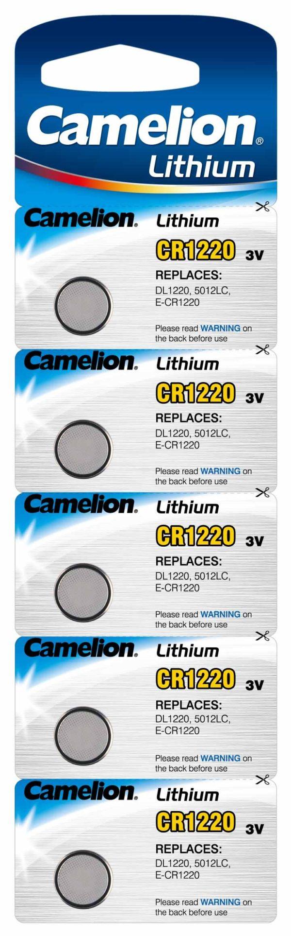 Blister 5 piles CR1220 3V Lithium