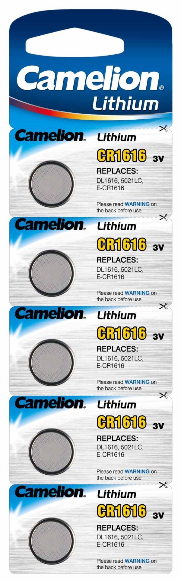 Blister 5 piles CR1616 3V Lithium