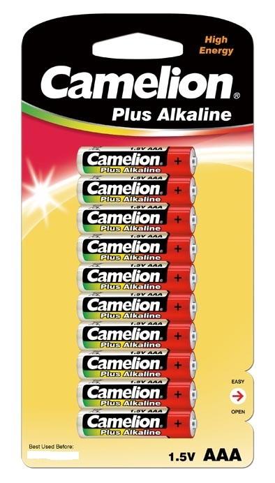Blister de 10 piles Alcaline Plus AAA LR03