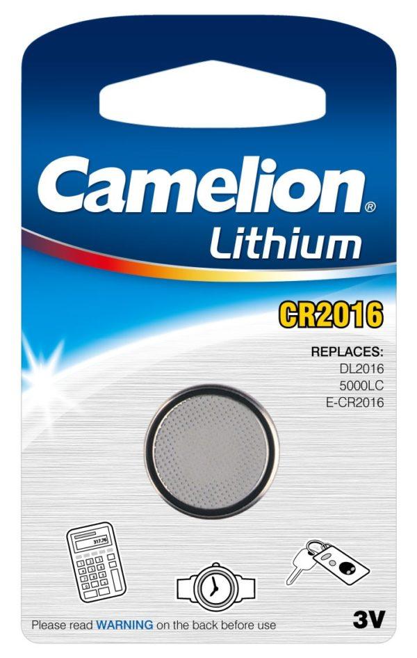 Blister 1 pile CR2016 3V Lithium