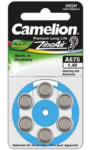 Blister de 6 piles Auditives A675 ZA675 0% merucre