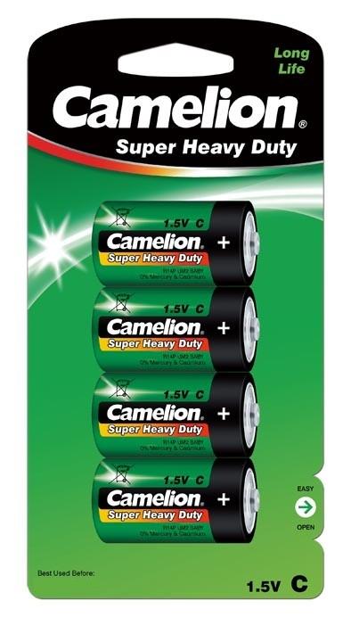Blister de 4 piles C / R14 Super Heavy Vertes