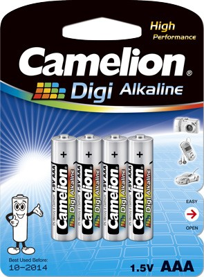 Blister de 4 piles Digi-Alcalines AAA LR03