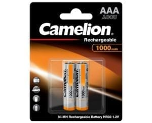 2x Accumulateur 1100 mAh Camelion HR03 AAA