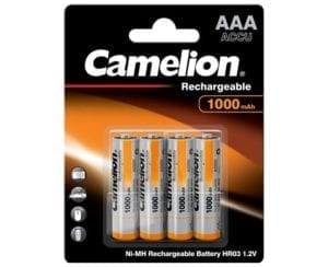 batterie rechargeable 1000 mah aaa hr03 Camelion