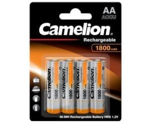 Batteries Camelion rechareables AA 1800 BP4