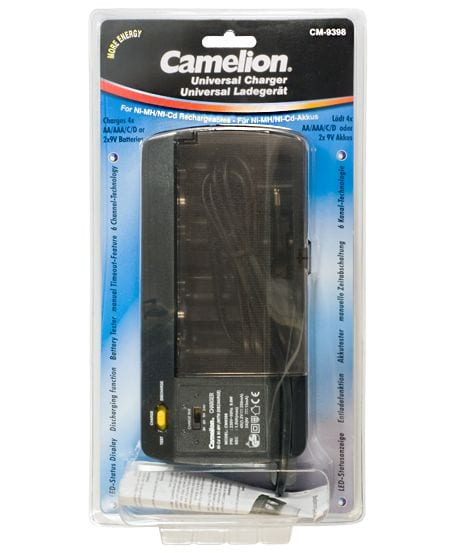 Camelion chargeur d'accumulateur CM-9398