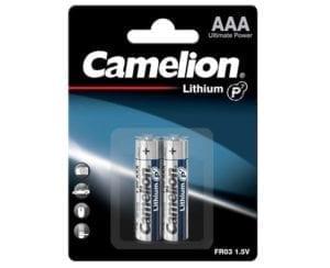Batterie Lithium AAA Camelion Blister de 2 piles
