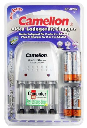 Chargeur prise BC-902 + 4 accus AA 2500mAh