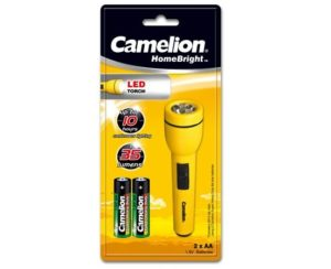 Lampe de poche LED HomeBright + 2 piles AA Camelion FL1L2AA