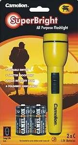 Lampe de poche + 2 piles C FL2CB2R14P
