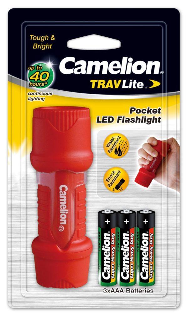 Torche Led TRAVLite 1 LED + 3 piles AAA HP7011-3R03PBP