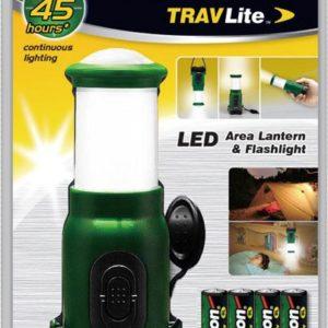 Lanterne / Torche TRAVLite 1+4 LED + 4 piles AAA SL7051-4R03PBP-GREEN