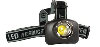 Lampe frontale 3 LED 3 Watt + 3 piles LR03 CT4007