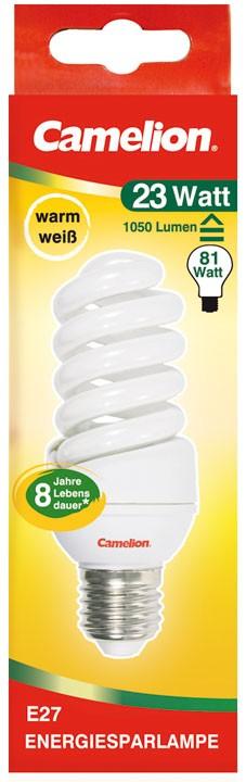 Ampoule fluocompacte T3 Full Spiral 23W E27 2700K couleur blanc chaud