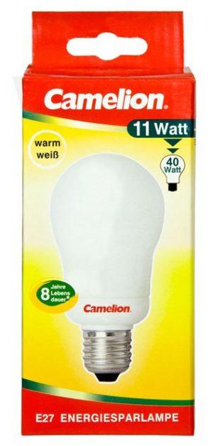 Ampoule fluocompacte Globe A55 11W E27 2700K couleur blanc chaud