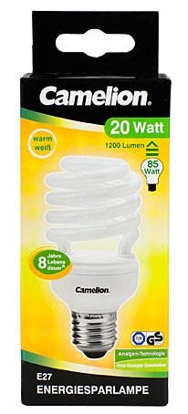 Ampoule fluocompacte T2 Spiral - 20W / E27 / 4000K couleur blanc neutre
