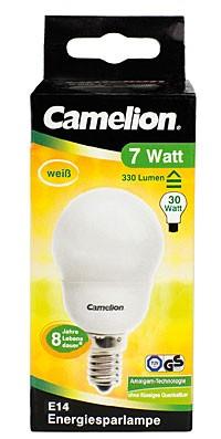 Ampoule fluocompacte Mini Globe G50 / 7W / E14 / 4000K couleur blanc neutre
