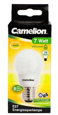 Ampoule fluocompacte Mini Globe G50 / 7W / E27 / 4000K couleur blanc neutre