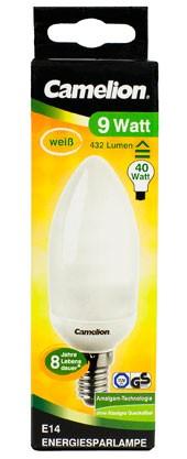 Ampoule fluocompacte Kerze C71 / 9W / E14 / 4000K couleur blanc neutre