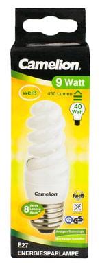 Ampoule fluocompacte T2 Slim Full Spirale / 9W / E27 / 4000K couleur blanc neutre