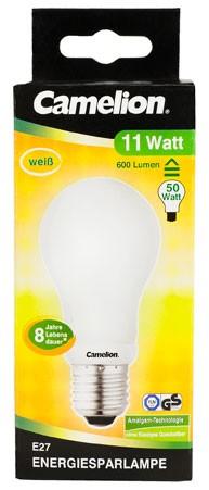 Ampoule fluocompacte Globe A55 / 11W / E27 / 4000K couleur blanc neutre