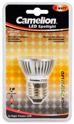 Ampoule Spot Led CPH019 E27 3 LED 3 Watt 220 Lumen 2800K couleur blanc chaud