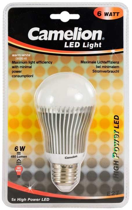 Ampoule Led CHP040 E27 5 LED 6 Watt 490 510 Lumen 3000K couleur blanc chaud