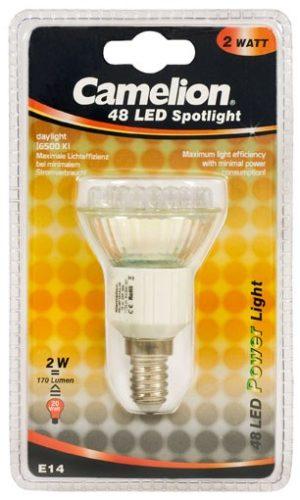 Ampoule Mini Spot Led CLT019 E14 48 LED 2,5 Watt 180 Lumen 6400K couleur blanc jour