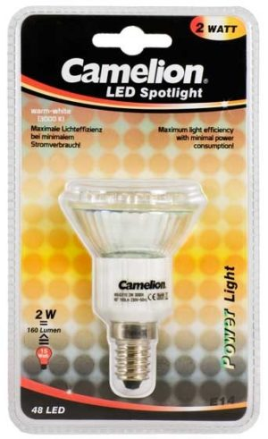 Ampoule Mini Spot Led CLT019 E14 48 LED 2,5 Watt 170 Lumen 2800K couleur blanc chaud