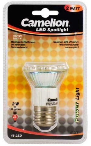 Ampoule Mini Spot Led CLT019 E27 48 LED 2,5 Watt 180 Lumen 6400K couleur blanc jour
