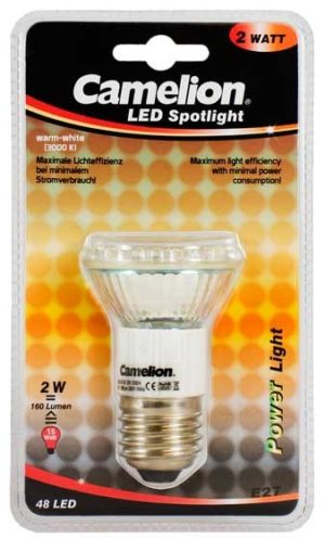 Ampoule Mini Spot Led CLT019 E27 48 LED 2,5 Watt 170 Lumen 2800K couleur blanc chaud