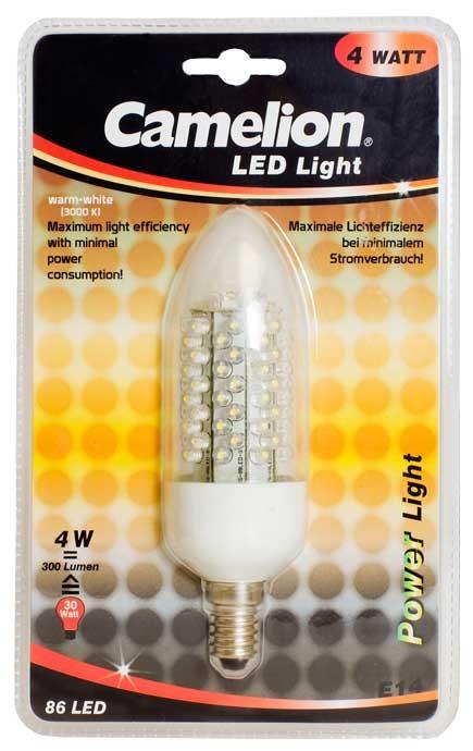 Ampoule Maxi Bougie Led CLQ015 E14 86 LED 4,5Watt 290-320 Lumen 3000K couleur blanc chaud