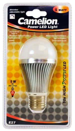Ampoule Changeable Led BLH60 E27 10 LED 5 Watt 420 Lumen 2800K couleur blanc chaud