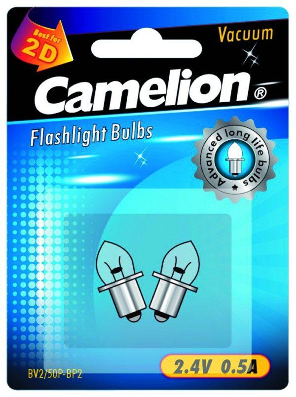 2 Ampoules pour lampes de poche BV2 50P (2,4 V 0,5A Vacuum) sous blister
