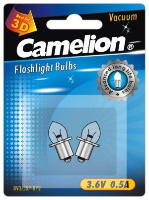 2 Ampoules pour lampes de poche BV3 50P (3,6 V 0,5A Vacuum) sous blister
