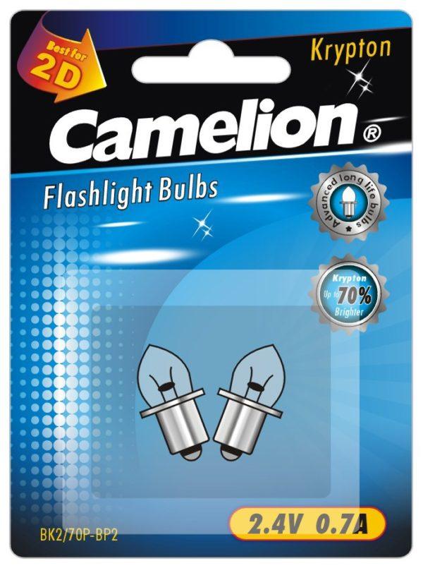 2 Ampoules pour lampes de poche BK2 70P (2,4 V 0,7A Krypton) sous blister