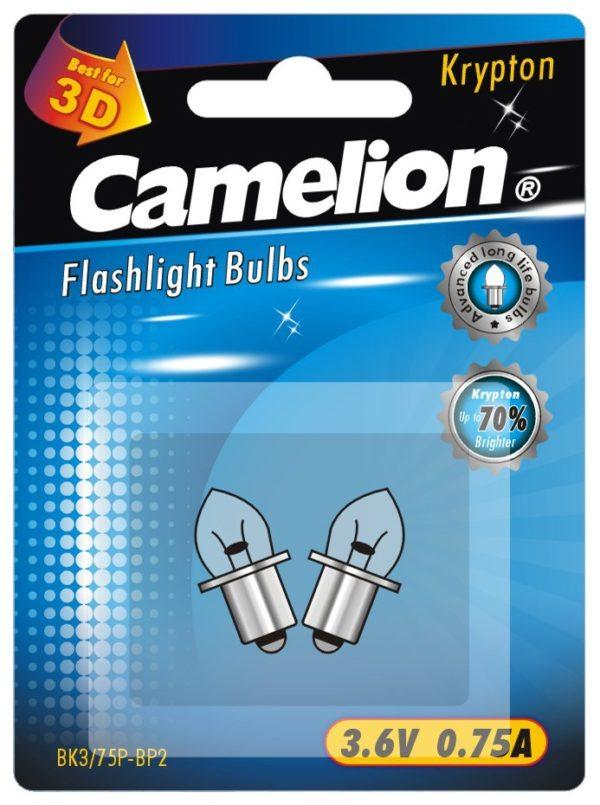 2 Ampoules pour lampes de poche BK3 75P (3,6 V 0,75A Krypton) sous blister