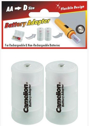 Adaptateur plastique pour piles ou accus D