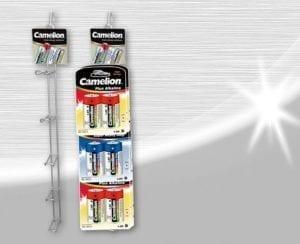 Camelion présentoir 5 crochet pour blister de pile