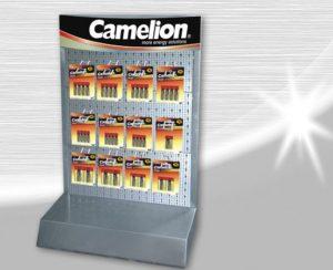 Camelion présentoir pile batteries 12 crochets