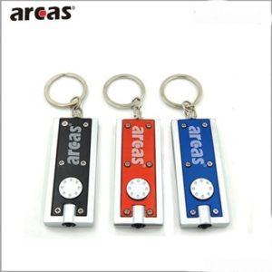 Arcas Porte cle lampe de poche rectangulaire ARC-LED-SA / 1 LED avec 2 piles CR1220