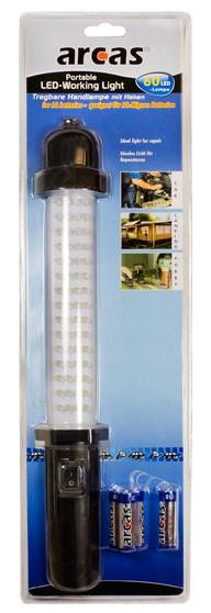 Arcas Baladeuse ARC-60 LED + 4 piles R6 AA
