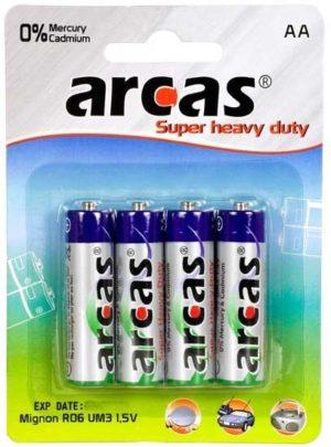 Arcas blister de 4 piles R6 / AA / 1,5V