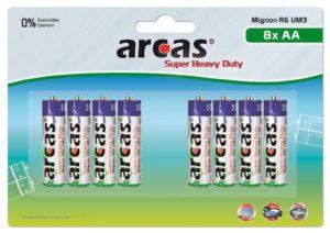 Arcas blister de 8 piles R6 / AA / 1,5V