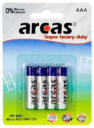 Arcas blister de 4 piles R03 / AAA / 1,5V
