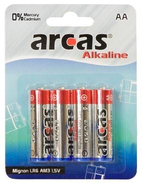 Arcas blister de 4 piles Alcalines LR6 / AA / 1,5V