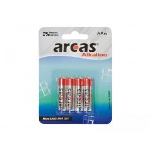 Arcas blister de 4 piles Alcalines LR03 / AAA / 1,5V