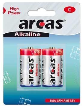 Arcas blister de 4 piles Alcalines LR14 / C / 1,5V